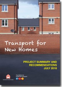 Transport for New Homes report cover