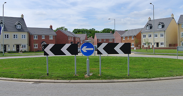 Image: roundabout in new development