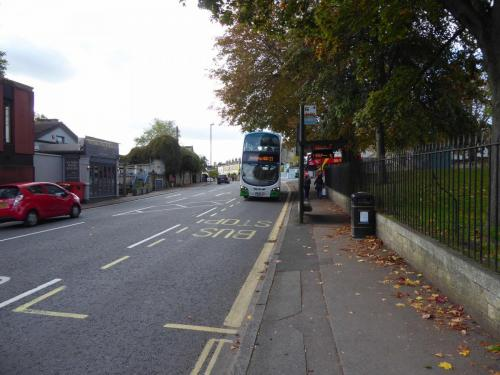 Bath Riverside: bus stop with buses every 5 mins