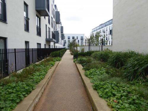 Bath Riverside: car free internal courtyard